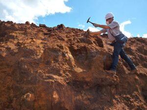 geólogo trabalhando na mineração