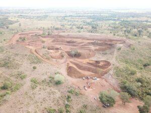 foto aérea da mineração