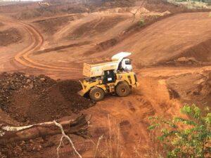 maquinário da mineração