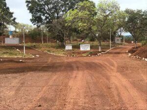foto das estradas dentro da mineração